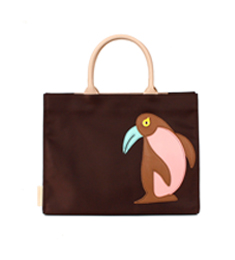 SALE ANIMAL APPLIQUE BAG_PENGUIN Brown