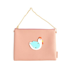 SALE White Rooster Clutch Bag