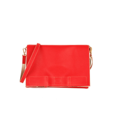 SALE  Leather 2way bag Red