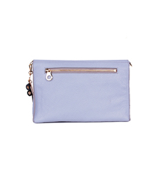 SALE Leather 2way bag Sky-blue